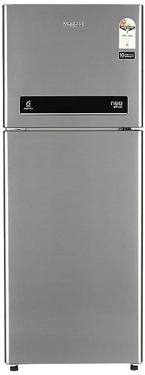 Whirlpool 245 L 2 Star  2019  Frost Free Double Door Refrigerator NEO DF258 ROY ILLUSIA STEEL 2S , Illusia Steel  Refrigerators