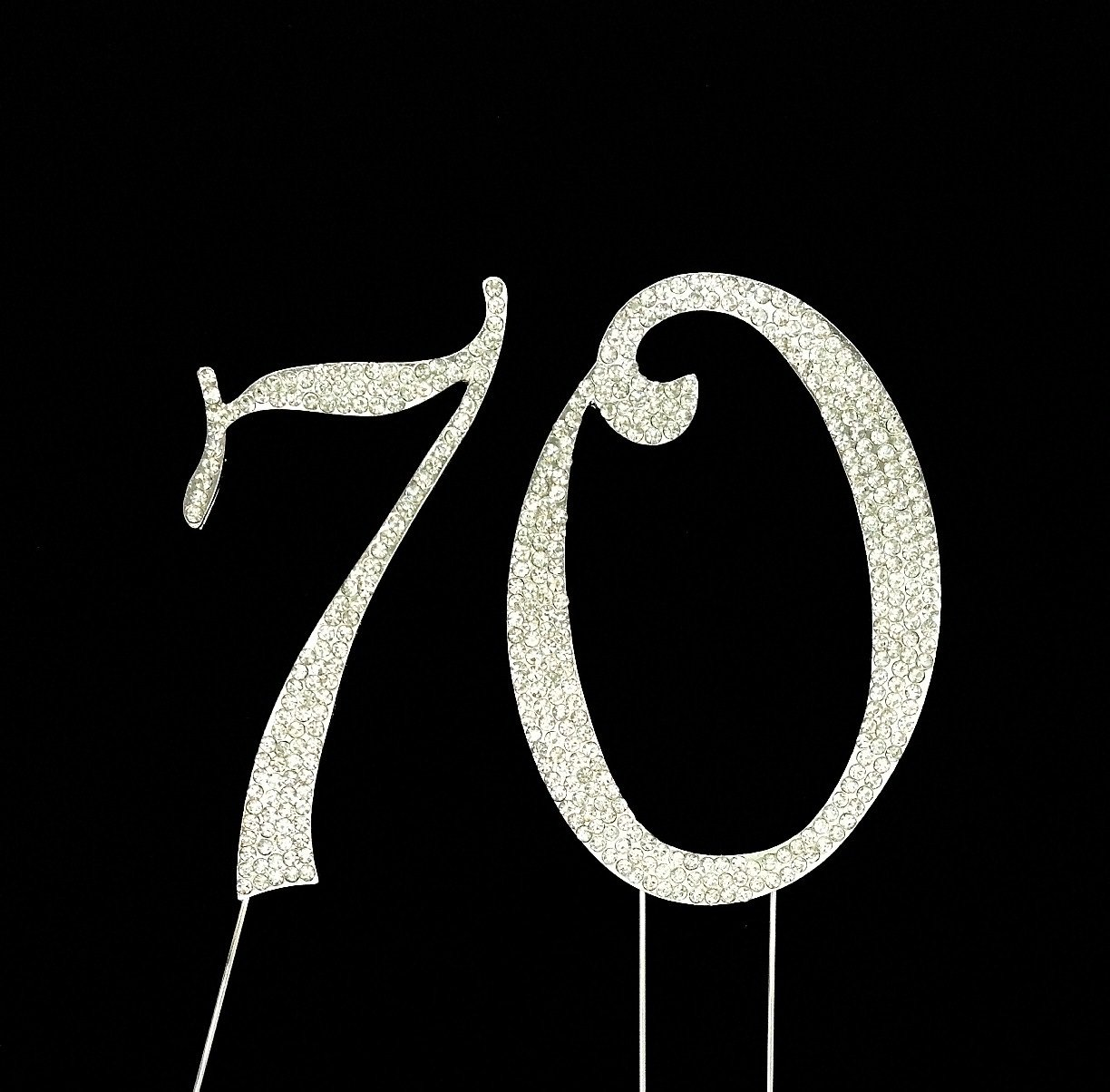 Amazon large 70th birthday wedding anniversary number cake amazon large 70th birthday wedding anniversary number cake topper with sparkling rhinestone crystals 4 12 tall cake decoration jewelry kitchen biocorpaavc