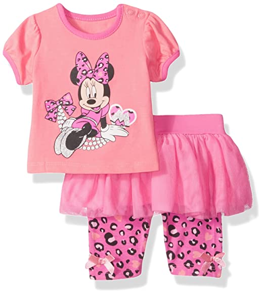 749431c9925 Amazon.com: Disney Baby-Girls Newborn Minnie Mouse 2 Pieces Skegging Set:  Clothing