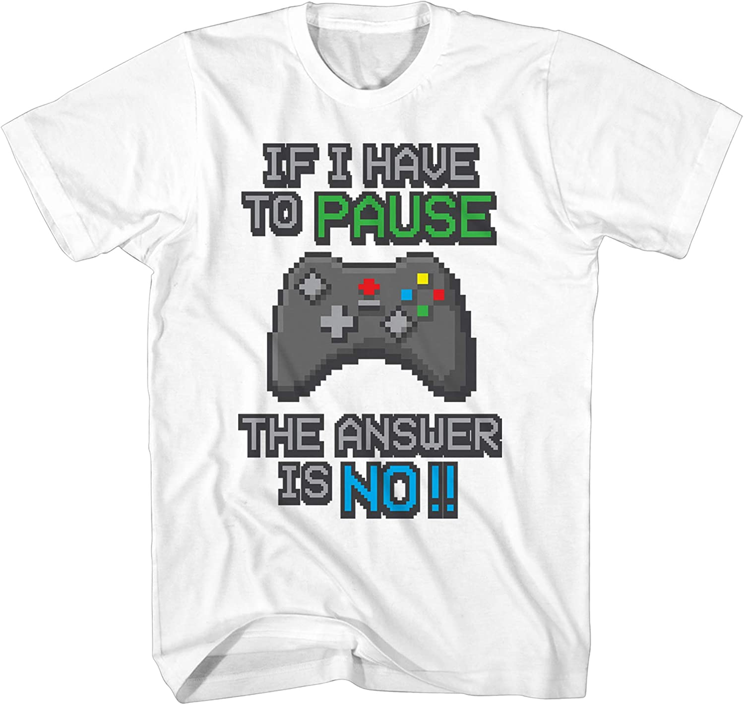 Kids T-Shirt Witty Fashions I Paused My Game to Be Here Funny Video Gamer Humor Gift