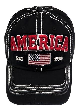 6c5c1fce84157  quot America quot  Flag Baseball Cap with Crystals Hat Headwear Patriotic  ...