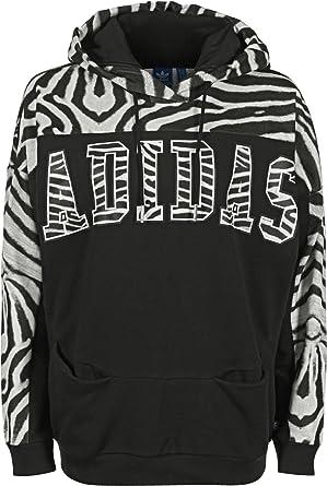 Adidas Zebra W Hoodie 34 black white  Amazon.de  Bekleidung b4b7ac358d