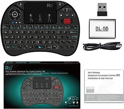 Delicacydex Rii i8X Mini 2.4G Teclado inalámbrico Touchpad Combinado con retroiluminación Scroll Wheel Multimedia Fly Mouse para PC para Smart TV Box: Amazon.es: Electrónica