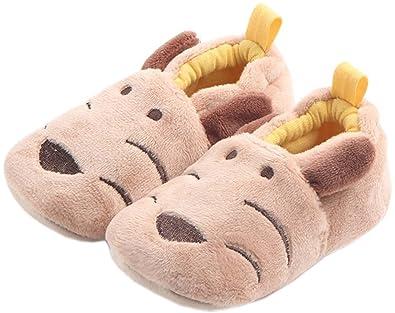 bettyhome Winter Plush Unisex Baby Newborn Hallowmas Elk Pattern Soft Sole Infant Toddler Prewalker Sneakers (