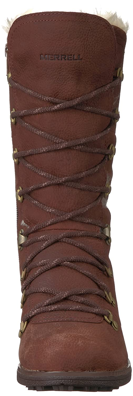 Merrell Women's Chateau Tall Lace Polar Waterproof Snow Boot B01NCMMXI9 6.5 B(M) US|Brunette