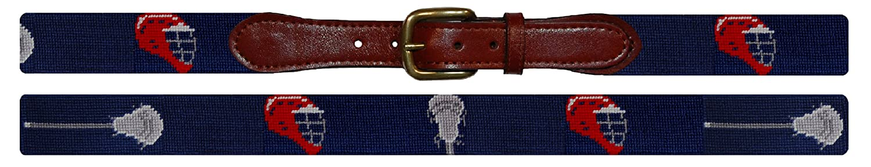 B-091 Smathers /& Branson Lacrosse Sticks//Helmets Traditional Needlepoint Belt