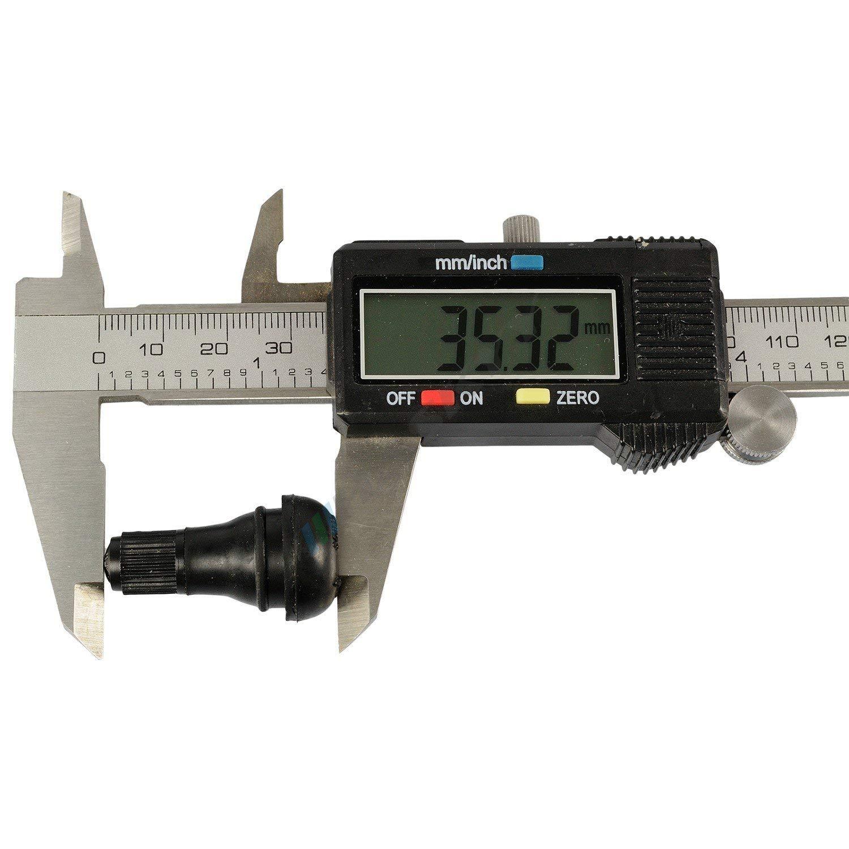 25x TR412 Gummiventile Snap-In Ventile Felgenventile EPDM Autoventile PKW schlauslos HASKYY/®