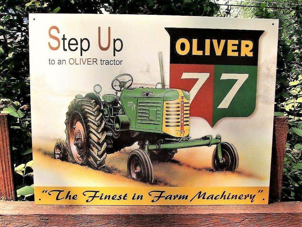 Oliver Farm Equipment Company Oliver 77 Tractor Tin Metal Sign Retro