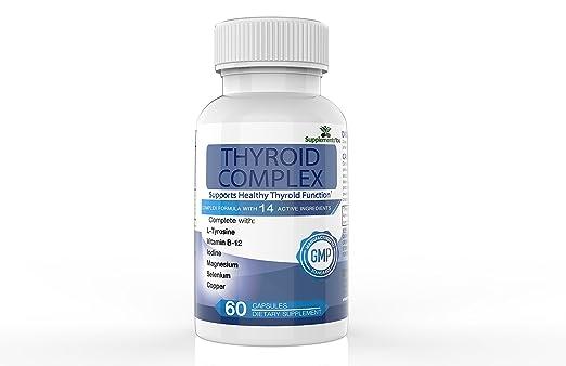 60 Suplementos Premium con 14 INGREDIENTES ACTIVOS, incluye L-Tirosina, yodo, Vitamina B12, Selenio, Alga Marina y Magnesio ayuda tanto el hiper y el ...
