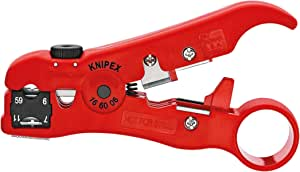 Knipex 16 60 06 SB Wire Stripping Tool for Coax and Data Cable, 125 mm (Blister Packed)