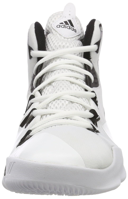 adidas Herren Dual Threat 2017 Basketballschuhe, Weiß