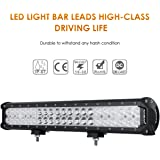 Auxbeam 20 Inch LED Light Bar 126W Light Bar with 42pcs 3W Led Off Road Driving Lights Spot Flood Combo Beam for Jeep…