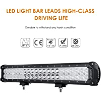 "Auxbeam 20"" LED Light Bar 126W CREE LED Bar with 42pcs 3W CREE Driving Light Combo Beam Waterproof for Driving Off Road ATV SUV UTV Jeep"