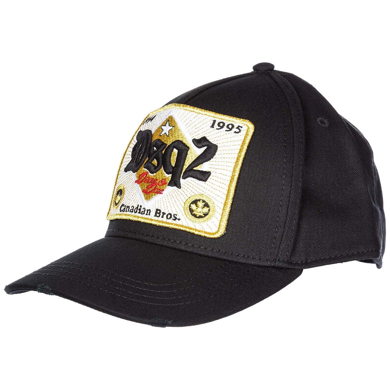 37adf1922192e Dsquared2 Men Canadian Brothers Baseball Cap Nero  Amazon.co.uk  Clothing