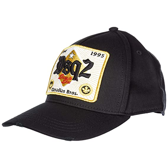 a916f14bd00 Dsquared2 Men Canadian Brothers Baseball Cap Nero  Amazon.co.uk  Clothing
