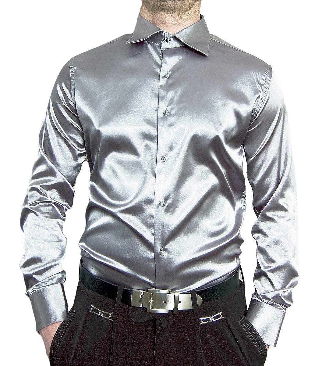 Pierre Martin Designer Herren Glanz Hemd Slim Slim Slim Fit tailliert bügelleicht langarm Glanzhemd eng geschnitten bunt B007VN1FYE Freizeit Ruf zuerst 9d5b23
