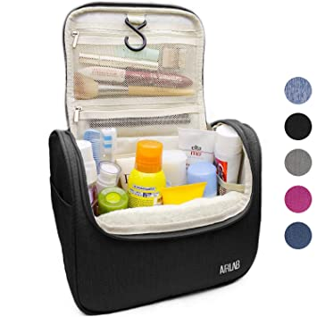 Hanging Toiletry Bag, Airlab Large Cosmetic Bag with Handle and Hook, Travel Toiletry Organizer