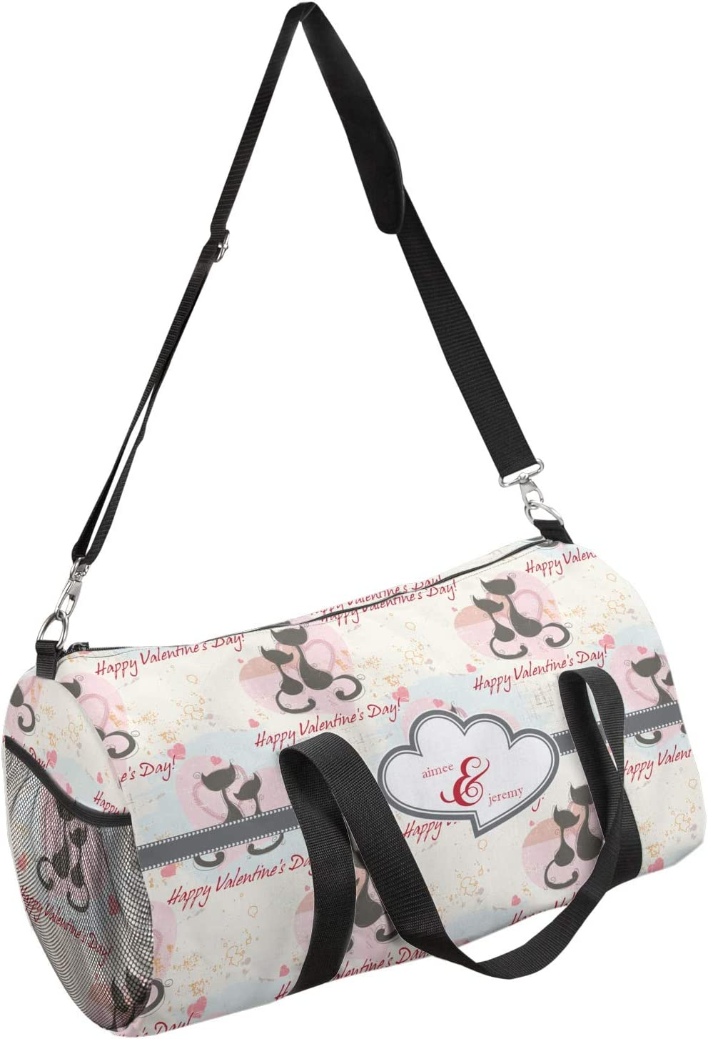 YouCustomizeIt Cats in Love Duffel Bag Personalized