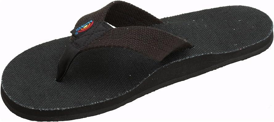 white hemp rainbow sandals