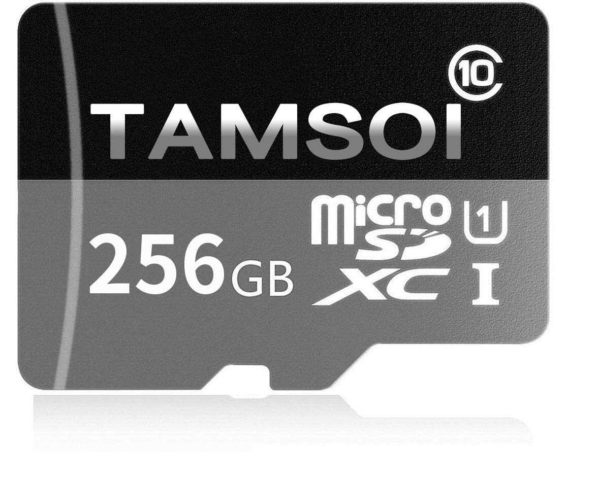 TAMSOI 256GB Micro SD SDXC Memory Card High Speed Class 10 with Micro SD Adapter, Designed for Android Sma