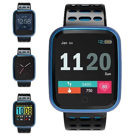 FOSUN N1 Reloj Inteligente, Fitness Tracker Smart Watch IP68 Rastreador de Actividad a Prueba de Agua con Monitor de Ritmo cardíaco Podómetro Paso ...