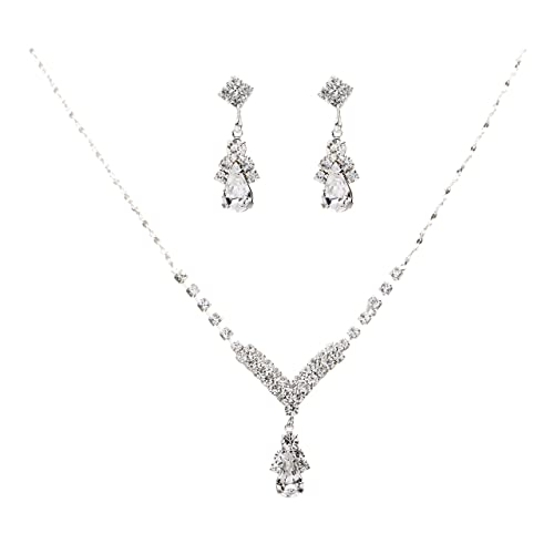 Bridal & Wedding Party Jewelry Cheap Price Clearance White Pearl Prom Bridesmaid Wedding Formal Necklace Jewelry Set Trendy Jewelry & Watches