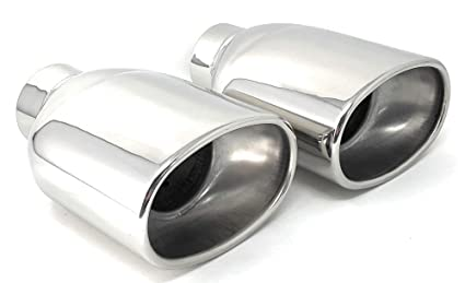 Oval Stainless Steel Exhaust Tips 2 5