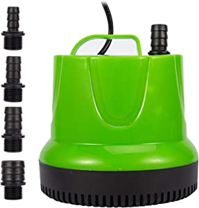 1150 GPH (4500L/H,100W) Submersible Pump,360 Degree Bottom Suction Pump,Ultra Quiet Water Pump with 14ft High Lift,for Garden Fountain ,Waterfall,Pond, Aquariums Hydroponics ,Fish Tank