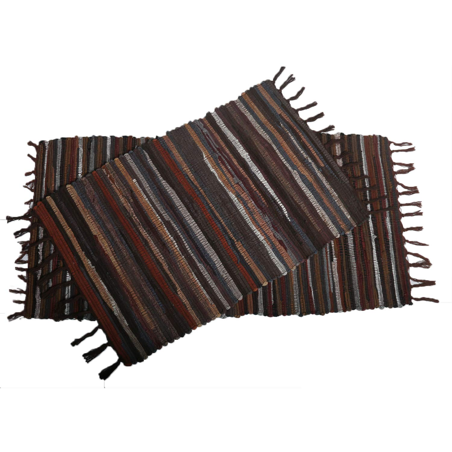 Amazon com uartlines cotton area rug set with tassels hand woven printed rug mat washable entryway for bedroom kitchen laundry room 2x3 2x4
