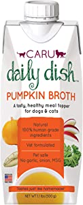 CARU Daily Dish Pumpkin Broth Meal Topper for Dogs and Cats, Natural, 500 g/1.1 lbs