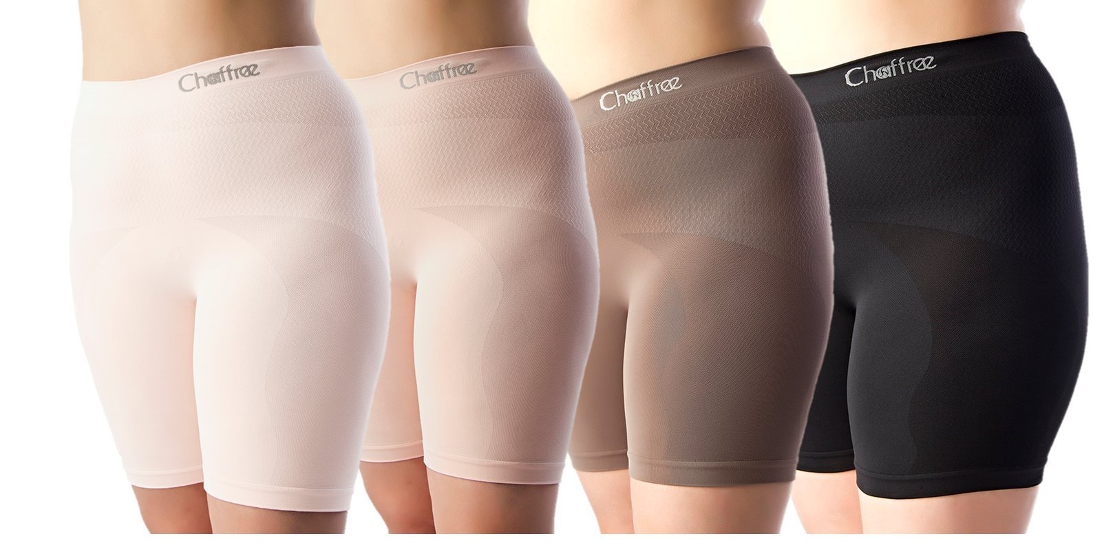Chaffree Womens Panty, Anti Chafing Full Figure Latex Free Underwear Brief 5Pack