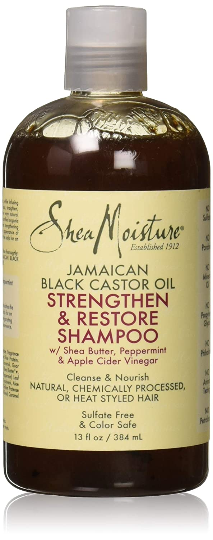 Shea Moisture Jamaican Black Castor Oil Strengthen & Restore Shampoo by Shea Moisture for Unisex - 13 oz Shampoo