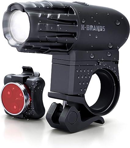USB LED Bike Bicycle Light Rechargeable Headlight /&Taillight Tail Light Set US