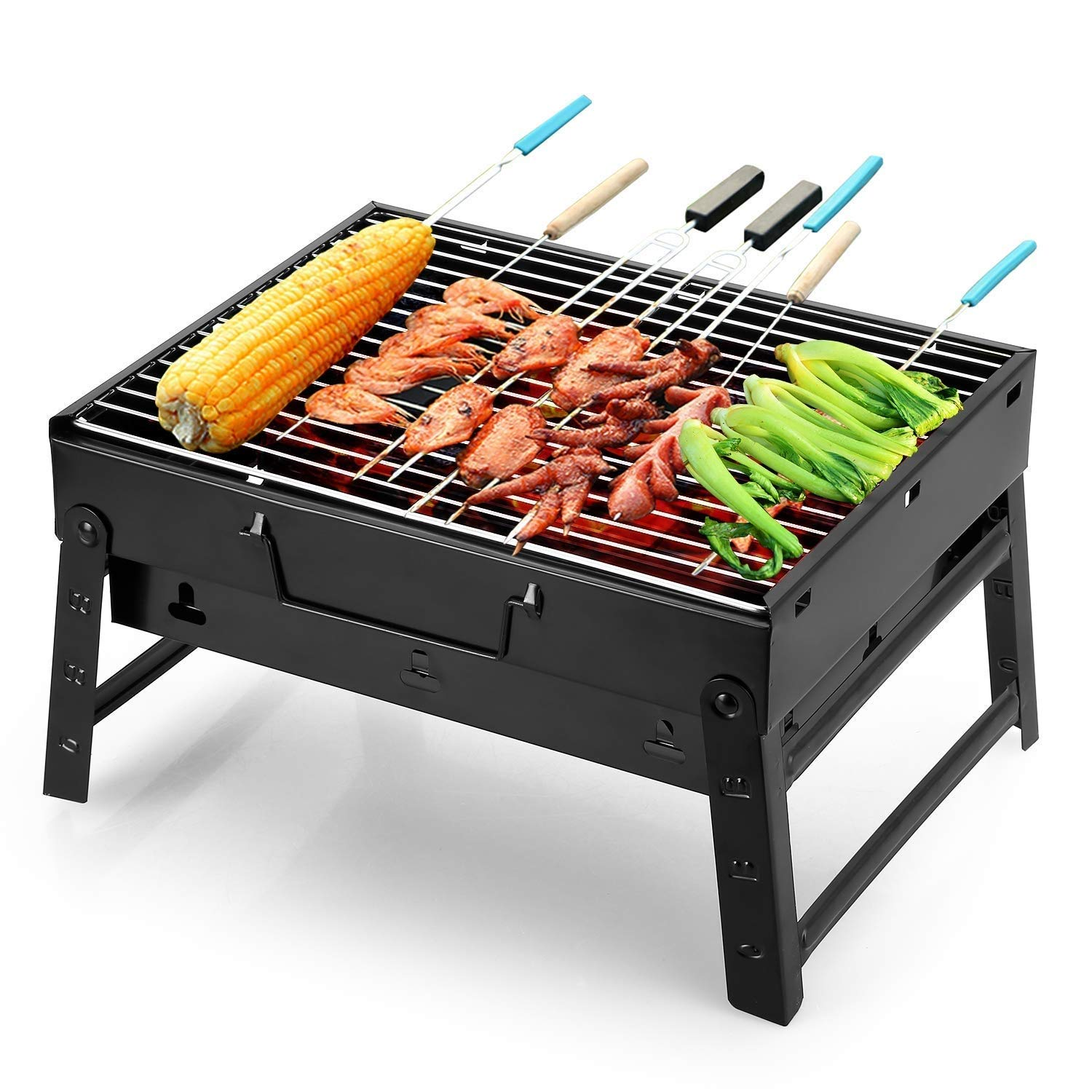 BBQ Charcoal Grill Folding Portable Light Barbecue Tool Outdoor Cooking Camping Hiking Picnic Picnic