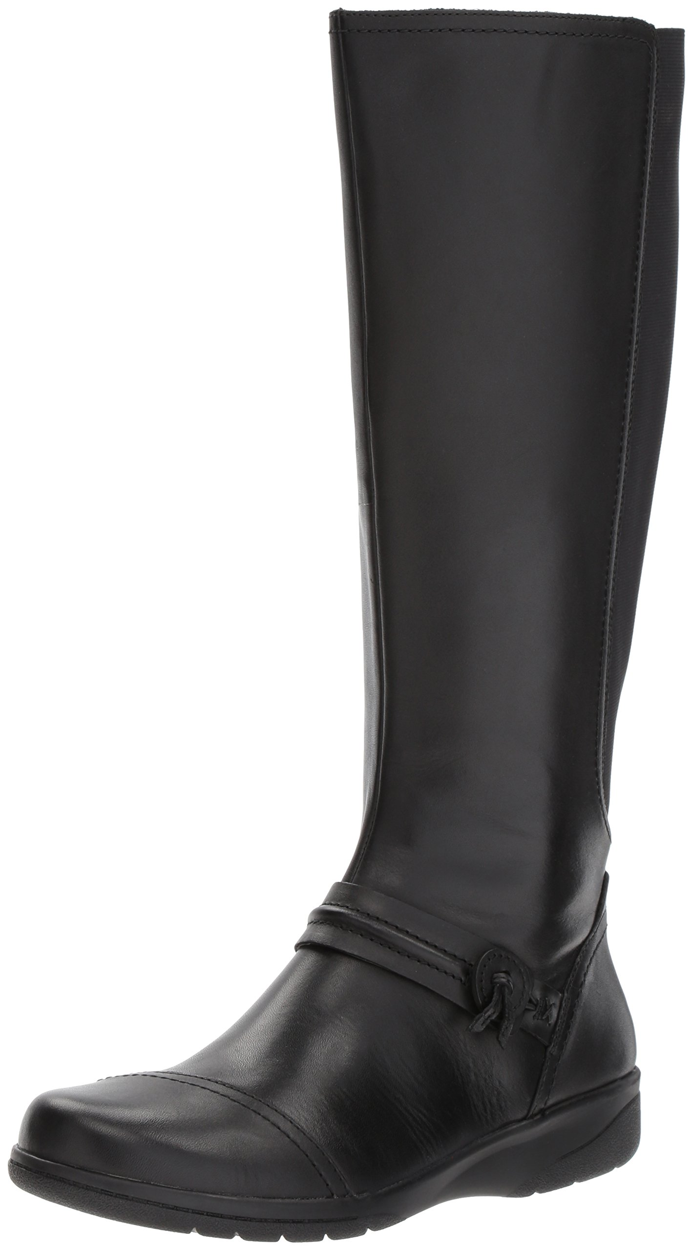 CLARKS Women's Cheyn Whisk Riding Boot, Black, 6 M US
