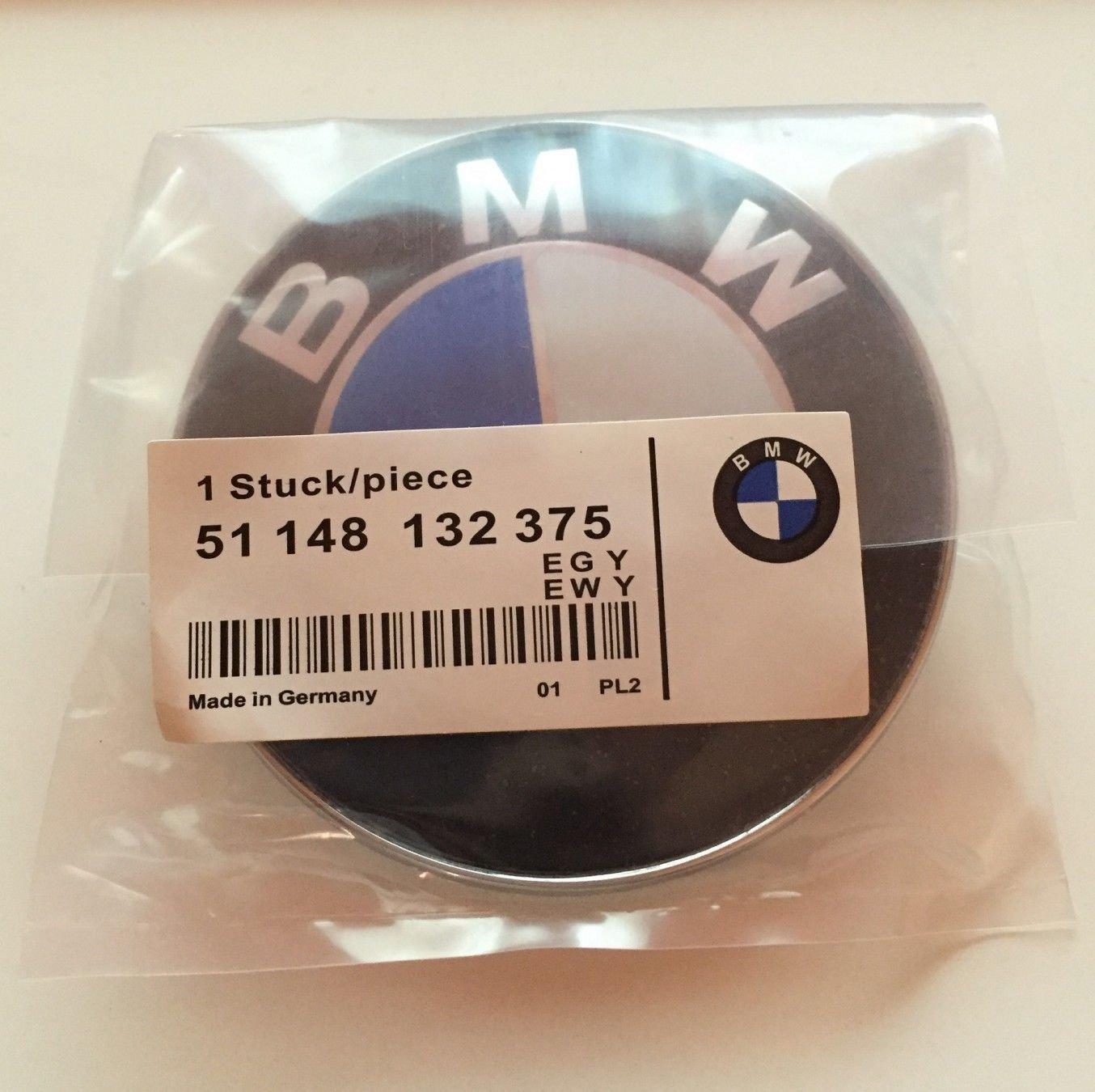 Oem Systems Company 51148132375 Capó para La Puerta del Maletero de 82Mm Logo, Azul Y Blanco oem bm