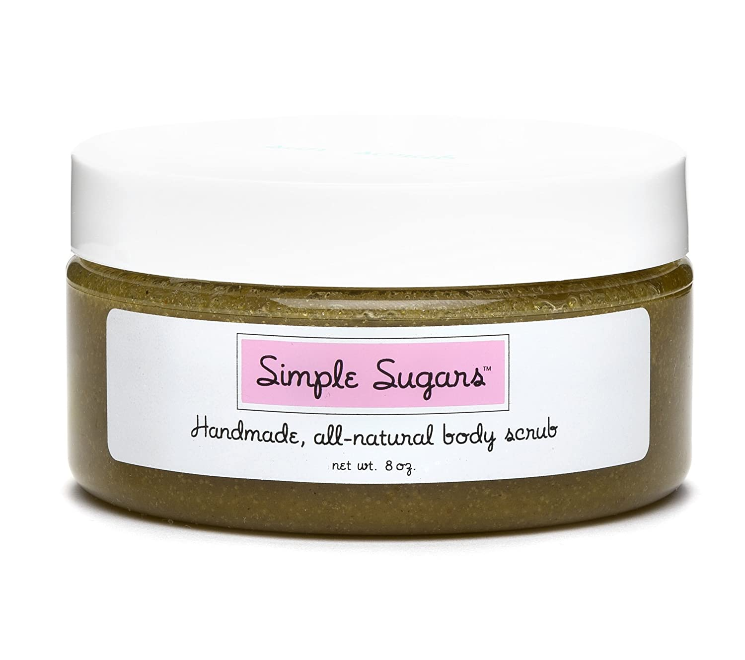 Simple Sugars Green Tea Body Cleansing Exfoliating Moisturizer - Formulated for Sensitive Skin - Eczema, Dry Skin, Psoriasis