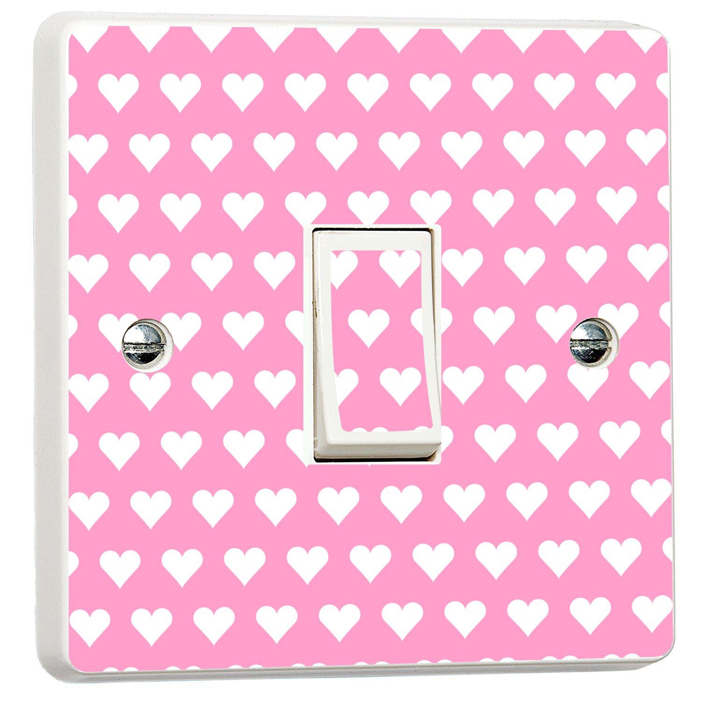 Pretty Pink Hearts Girls Bedroom Light Switch Sticker Wall Art Desire¨