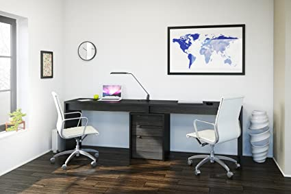 office desks for two. Sereni-T Home Office Kit With Two Reversible Desk Panels Office Desks For Two