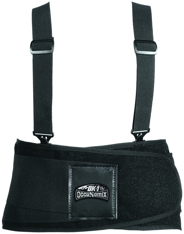 OK-1 00070 Universal Size Lumbar Back Belt, Black
