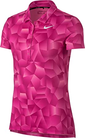 Nike Womens Dry Geo Printed Golf Polo (Hyper Pink, XS): Amazon.es ...