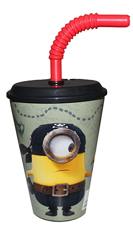 minions drinking cup juice glass cup with straw amazon co uk