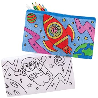 Baker Ross AX177 Estuches Para Lápices Para Colorear Sistema Solar - Paquete De 4, Para Proyectos De Artes Y Manualidades De Pintura De Tela Para Niños: Amazon.es: Industria, empresas y ciencia