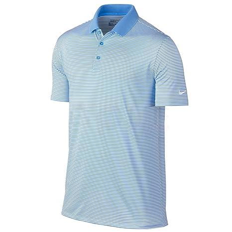 bc8da7b8 Amazon.com : Nike Golf Victory Mini Stripe Polo (University Blue/White)  (Large) : Sports & Outdoors