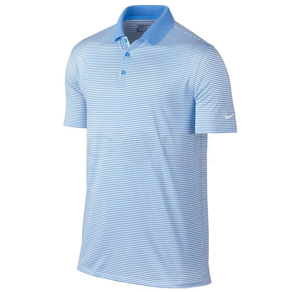 Nike Golf Victory Mini Stripe Polo (University Blue/White) S