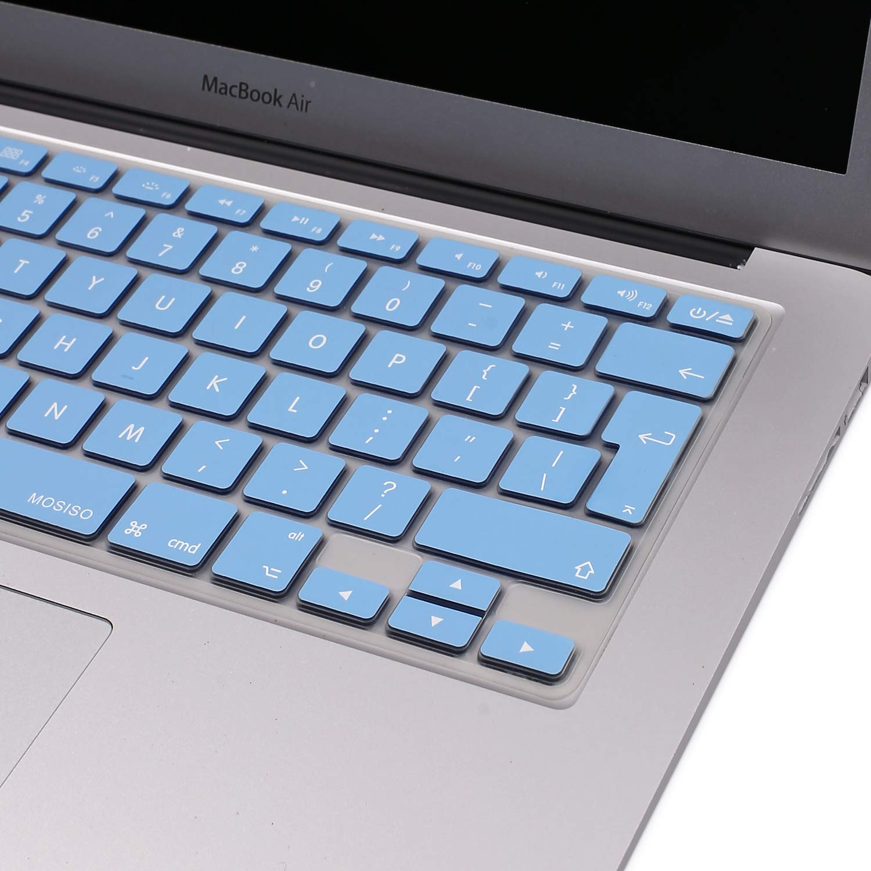 EU Layout con Alfabeto Ingl/és MOSISO Cubierta del Teclado Protectora Compatible con MacBook Pro 13 con//sin Pantalla Retina Versi/ón 2010-2017 15 Pulgadas Serenidad Azul //MacBook Air 13