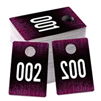 SICOHOME Live Number Tags, 001-100 Number Series, 1.7