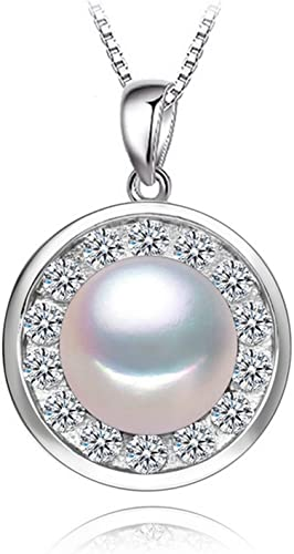 CS-DB Jewelry Silver Pearl White for Chain Charm Pendants Necklaces