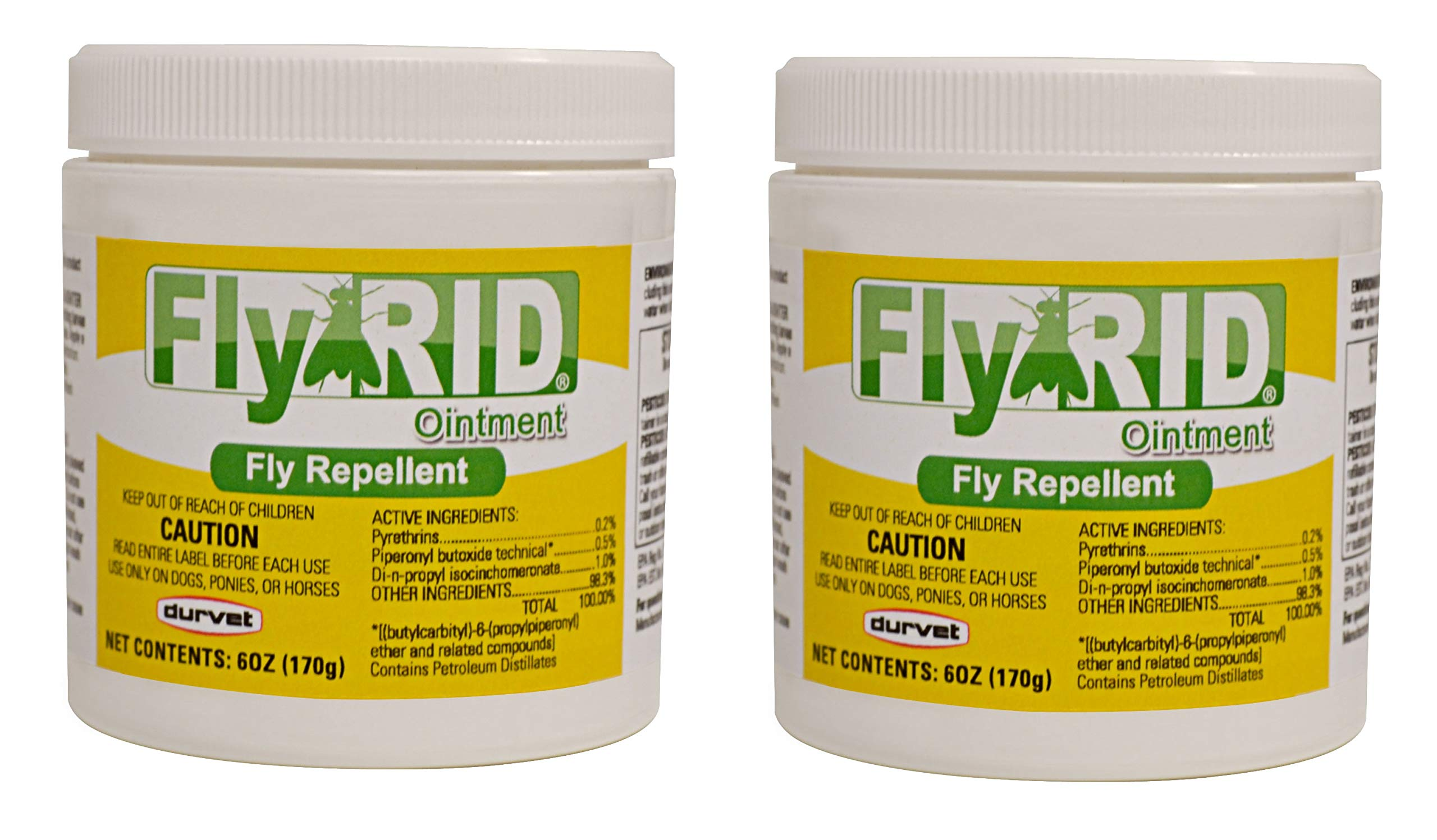 Durvet Fly Repellent Ointment Fly Rid Clear 6oz for Dogs and Horses (2 Packs)