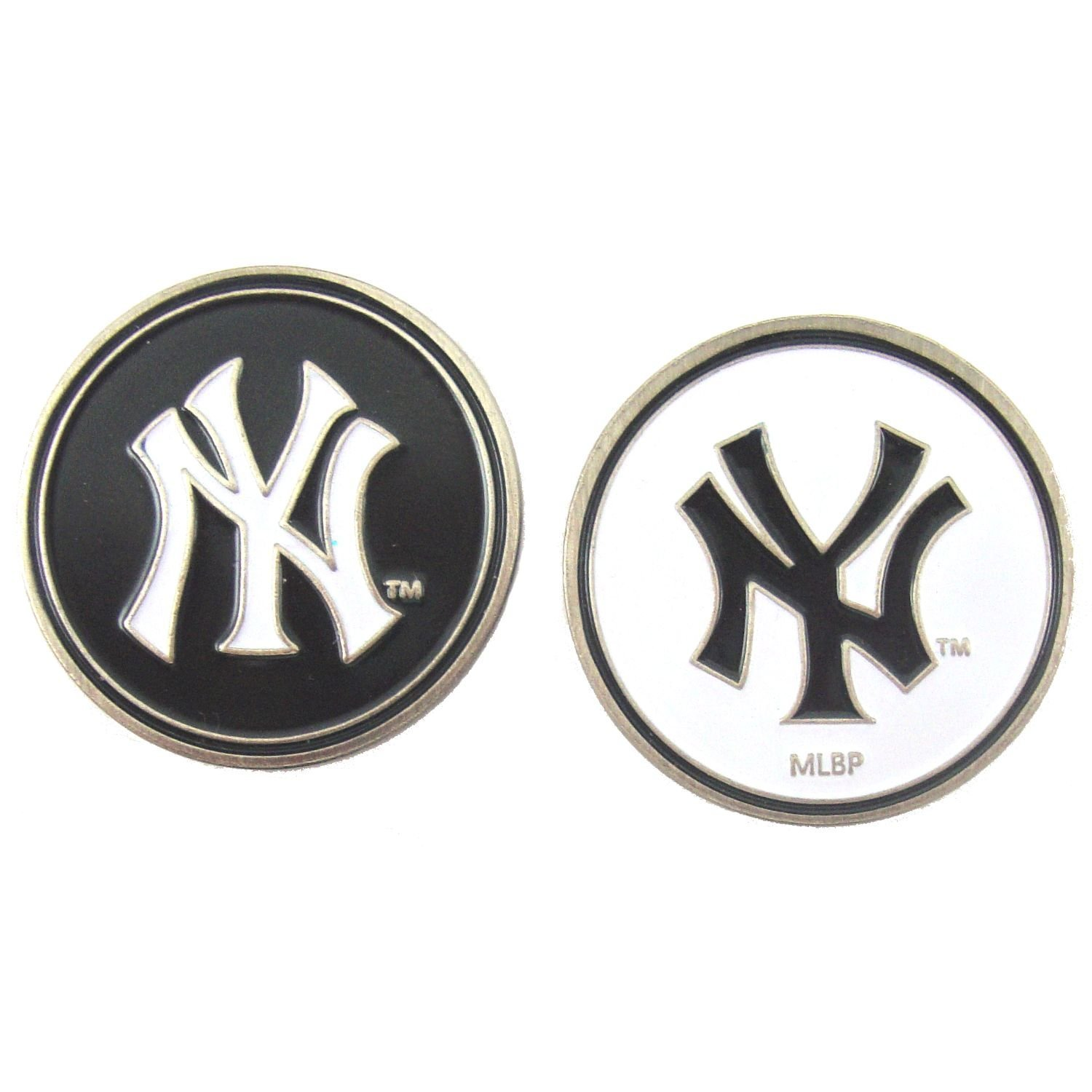 6fa9ac3fafbb1a Amazon.com : New York Yankees Double Sided Golf Ball Marker Only : Golf  Accessories : Sports & Outdoors